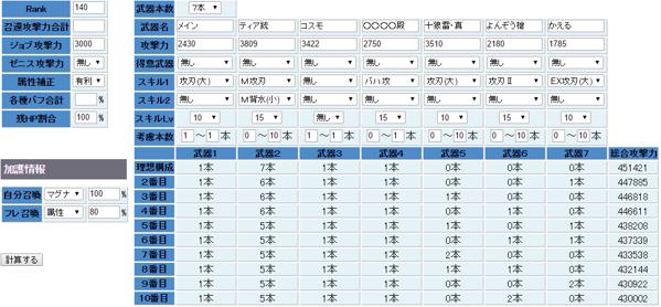 十狼雷込みの風編成計算2